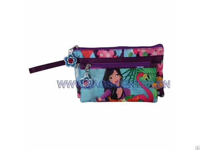 Double Zipper Pencil Bag