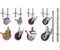 Scaffolding Caster Wheels With Adjustable Jack And Nut