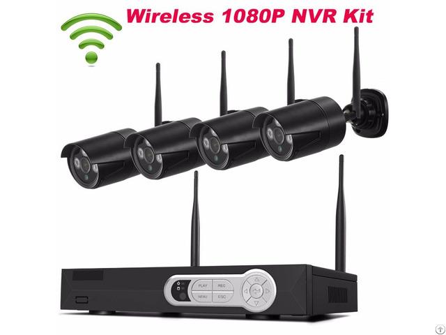 Black 4ch 1080p Wifi Nvr Kit