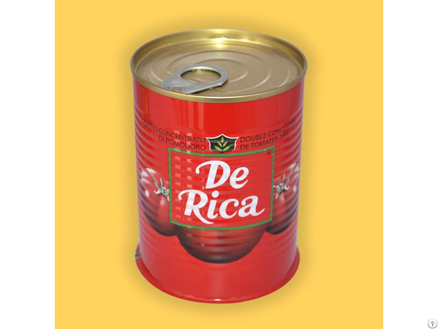 Canned Gino 28 30% Brix Tomato Paste Factory Manufacturers