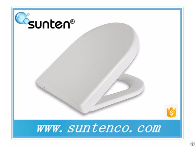 Pure White D Shape Urea Material Soft Close Toilet Seat Suppliers