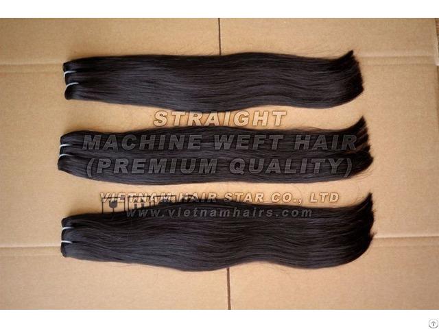 100% Virgin Vietnam Remy Human Machine Weft Hair