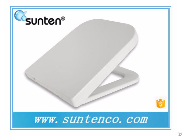 Xiamen Square White Uf Material Closed Front Family Toilet Seat