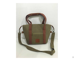 Canvas Lunch Cooler Bag With Big Capacity