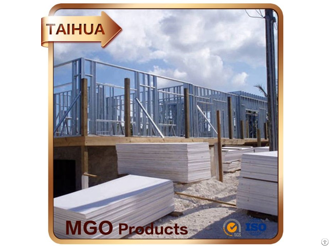 Decorative Fireproof Glass Fiber Mesh Mgo Board Interior And Exterior Partition Wall Panel