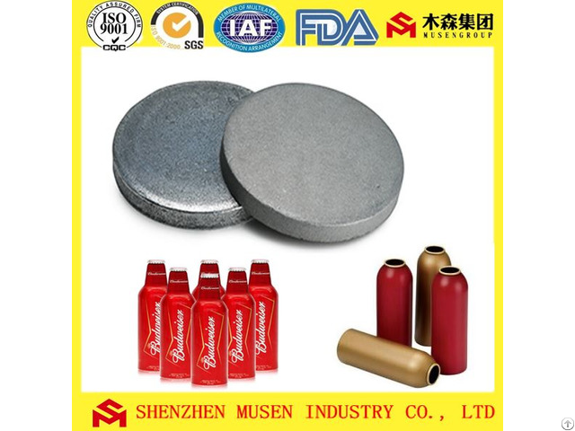 Mill Sandblasted And Flat Domed Aluminium Slug For Aerosol Can Ointment Tube Water Bottles