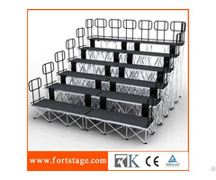 Portable Stage With 6 Layers Guard Rails