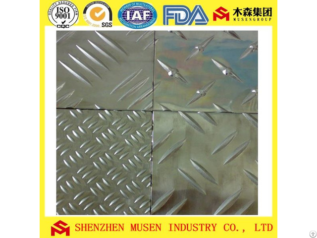 Aluminium Checkered Plates And Diamond Three Or Five Bars Pattern