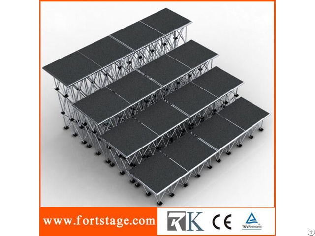 Portable Stage With Square Shape Platform