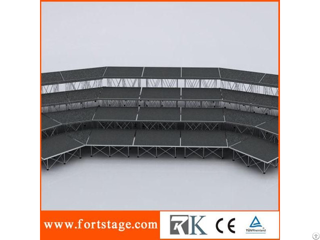 Choral Portable Stage Series Wedge Shaped Platform