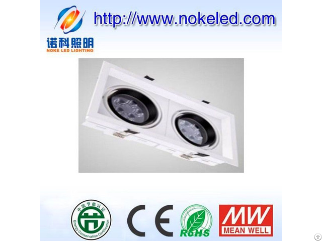 Double Head Led Down Light Square Type