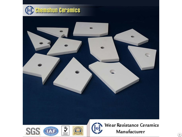Impact Resistance Alumina Ceramic Pipe Tile As Wear Resistant Linings