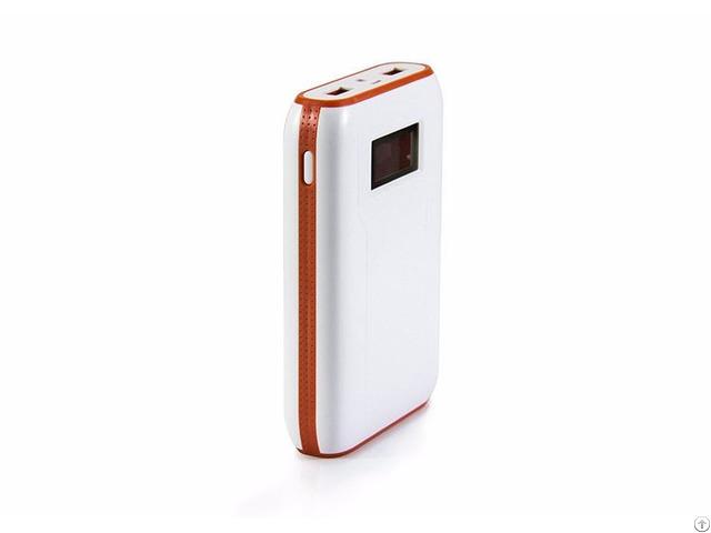 Portable 10400 Mah Powerbank With Lcd Display