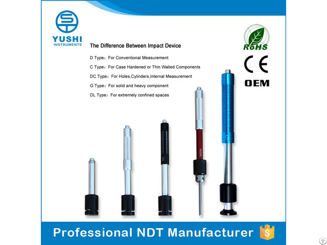Portable Leeb Hardness Tester Impact Devices Collection