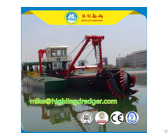 Cutter Suction Dredger Water Flow 2500m³ H And Discharge Distance 1500m
