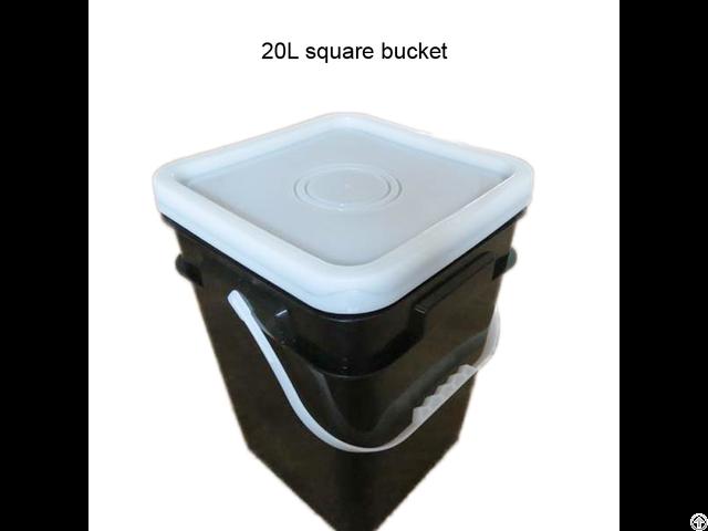 Wholesale 20l Square Black Plastic Bucket