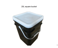 Wholesale 20l Square Black Plastic Bucket