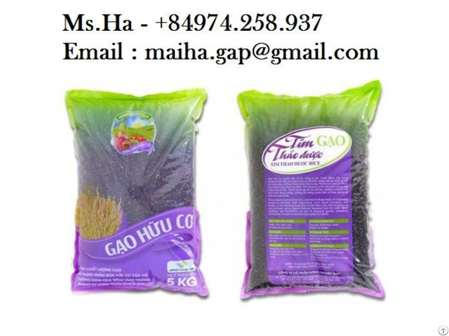 Black Herbal Rice From Vietnam For Sale With High Quality