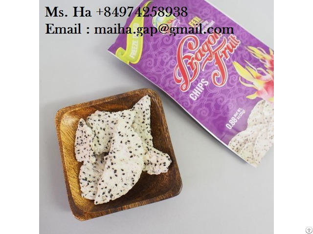 Freeze Dried Dragon Fruit Chips Vietnam Free Sugar High Quality