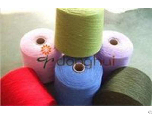 Polyester Mercerized Wool Blended Yarn For Weaving