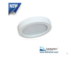 Five Plus Inch Round Flush Mount Led Recessed Ceiling Light