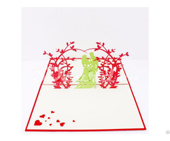Wedding Invitation 4 3d Pop Up Handmade Card