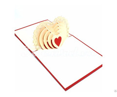 Heart 1 Love 3d Handmade Greeting Pop Up Card