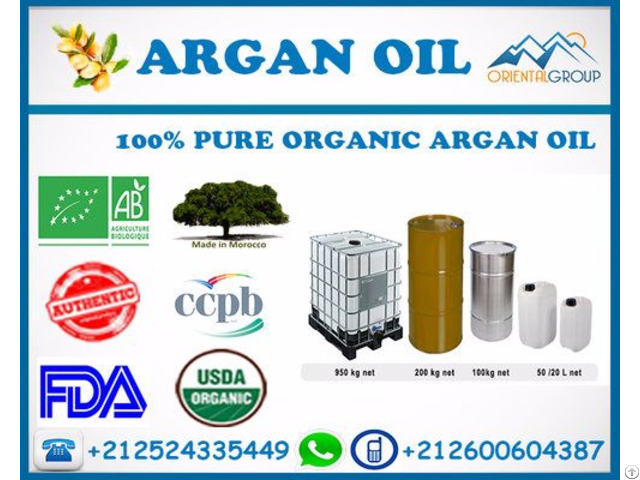 100% Pure And Natural Organic Bulk Argan Oil