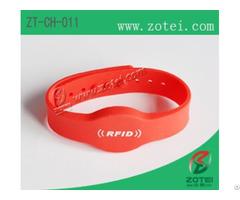 Concave Convex Button Rfid Silicone Wristband