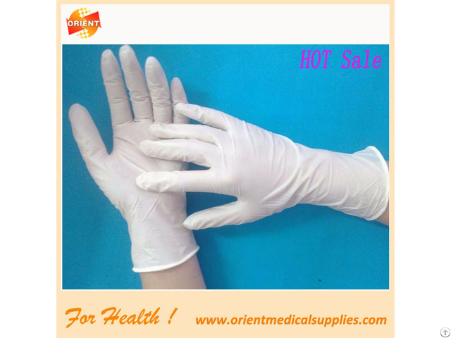 Iso Ce Certified Latex Surgical Glove In Medial Hospital