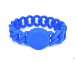 Rfid Braid Silicone Wristband Tag