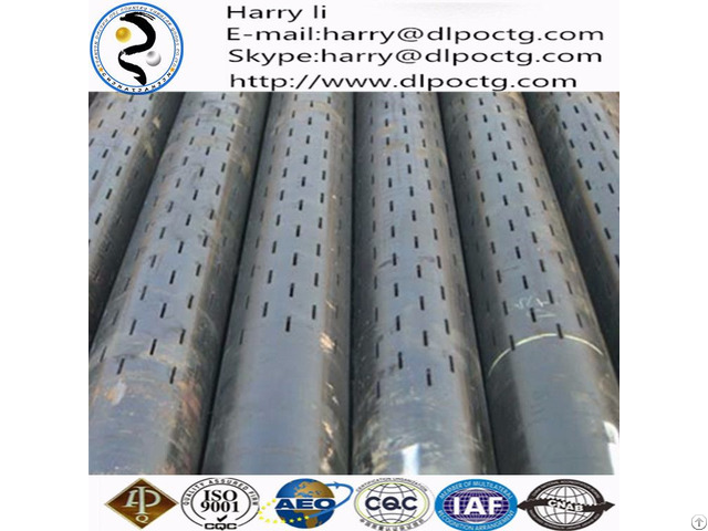 China Manufacture Stainless Steel Filter Pipe High Strength Slotted Liner