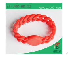 Braid Silicone Wristband Tag Zt Jhr Wri02