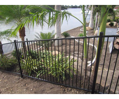 Black Vinyl Coated Galvanized Steel Fence