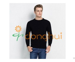Good Hand Feel Round Neck Knitted Pure Cashmere Pullover Sweater For Men