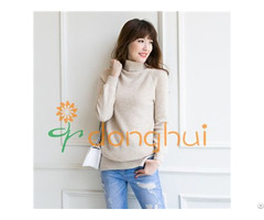 Merino Wool Turtleneck Cable Sweater For Women