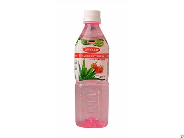 Okyalo Wholesale 500ml Aloe Vera Juice Drink With Strawberry Flavor