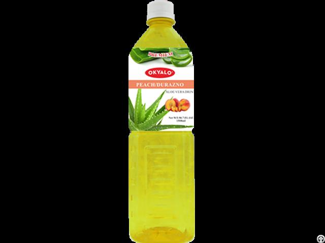 Okyalo Wholesale 1 5l Aloe Vera Juice Drink With Peach Flavor