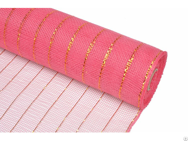 21inch 10yard Coral Poly Strip Wholesale Deco Mesh Ribbon For 20g29