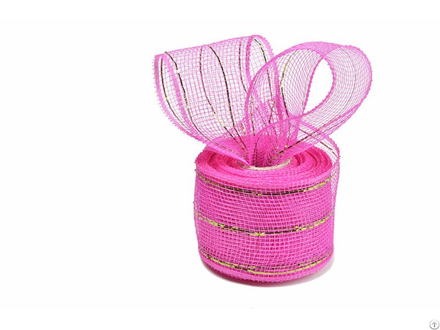 Dark Pink Apple Green Strip Metal Wire Mesh