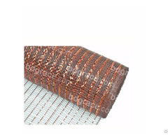 Dark Brown Decoration Material Plastic Strip Mesh For 50c19