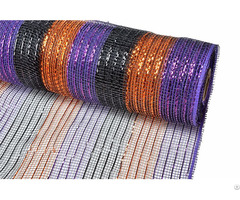 Purple Orange Black Stripe Christmas Decorative Mesh For 70c09i12i20x20