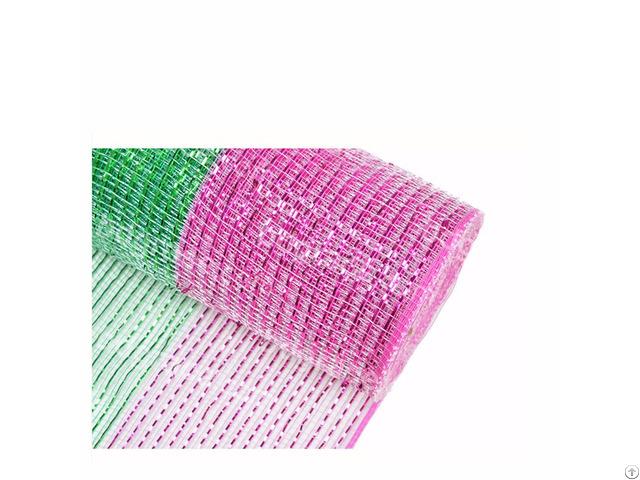 Dark Pink Strip Wholesale Custom Deco Mesh Wreath For 100c04