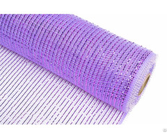 Light Purple Strip Pp Wraps Mesh For Flowers 100c08