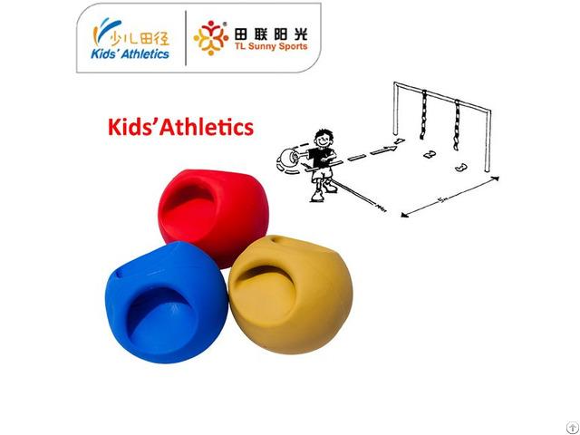 550g Medicine Ball With Handle For Iaaf Kids Athletics Kit