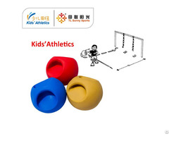 550g Medicine Ball With Handle For Iaaf Kids Athletics Kit