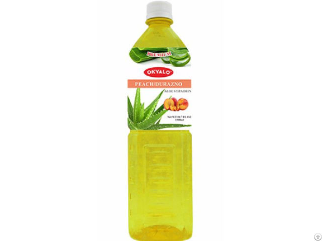 Peach Fresh Pure Aloe Vera Drink Supplier Okyalo
