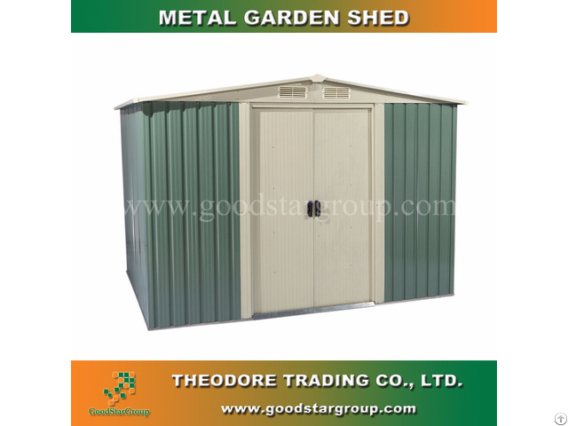 Metal Garden Shed 10x8ft For Tools Storage Outdoor Building