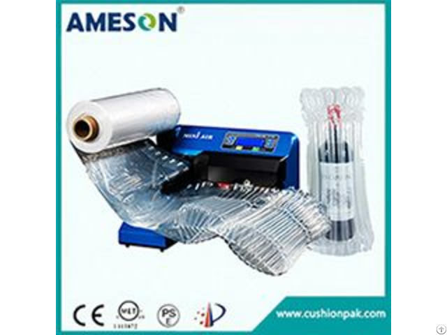 Air Tube Bag Machine For Red Wine Bottle And Milk Can Packaging