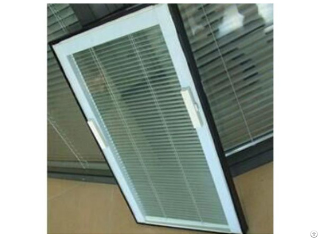 Tilt And Lift Magnetically Operated Blinds Closed Together To The Top